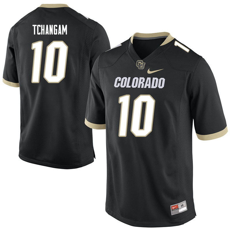 Men #10 Alex Tchangam Colorado Buffaloes College Football Jerseys Sale-Black