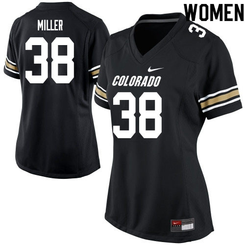 Women #38 Brock Miller Colorado Buffaloes College Football Jerseys Sale-Black