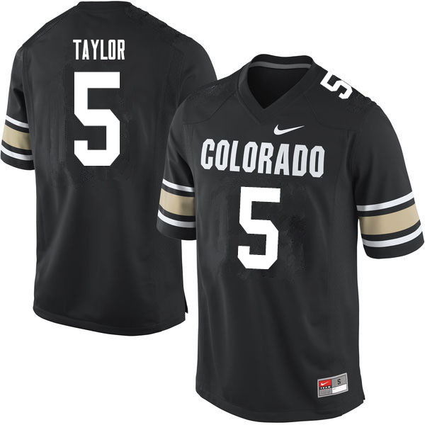 Men #5 Davion Taylor Colorado Buffaloes College Football Jerseys Sale-Home Black