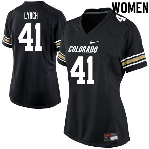 Women #41 Devin Lynch Colorado Buffaloes College Football Jerseys Sale-Black