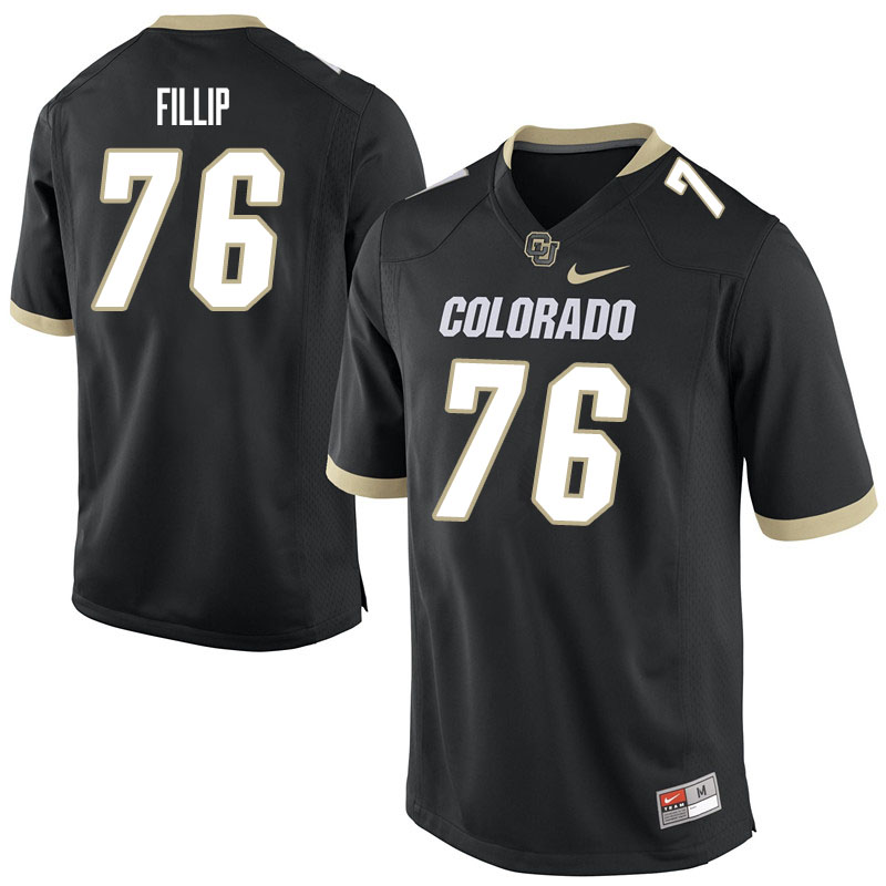 Men #76 Frank Fillip Colorado Buffaloes College Football Jerseys Sale-Black