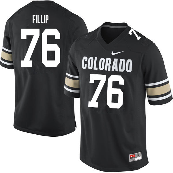 Men #76 Frank Fillip Colorado Buffaloes College Football Jerseys Sale-Home Black