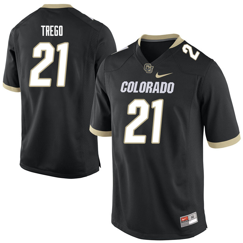 Men #21 Kyle Trego Colorado Buffaloes College Football Jerseys Sale-Black
