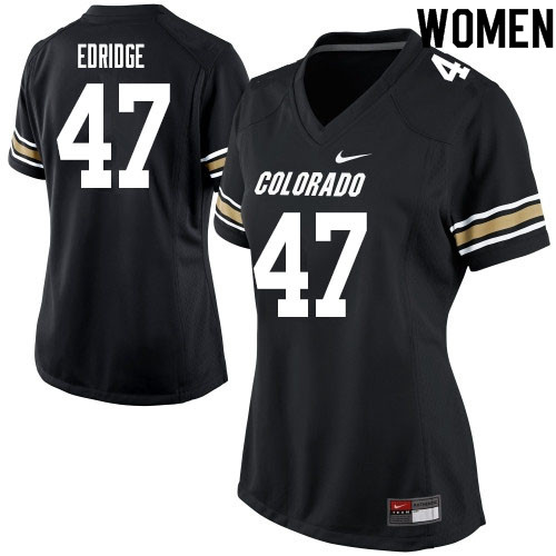 Women #47 Nick Edridge Colorado Buffaloes College Football Jerseys Sale-Black