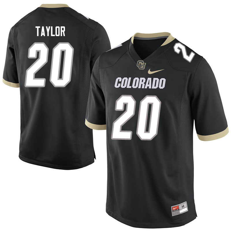 Men #20 Davion Taylor Colorado Buffaloes College Football Jerseys Sale-Black