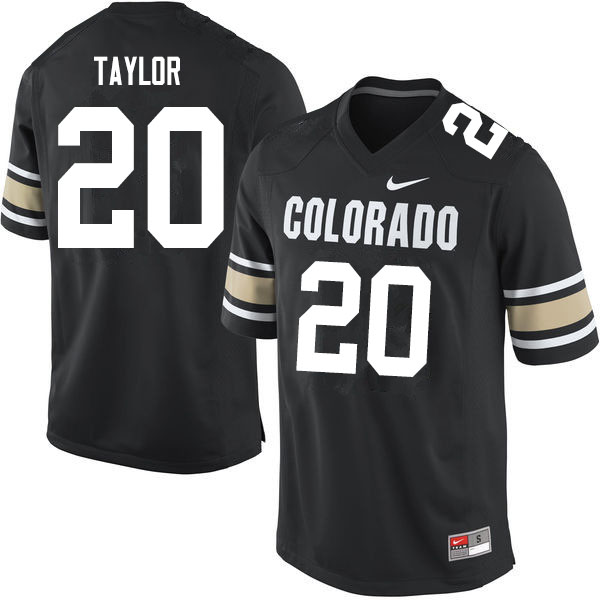 Men #20 Davion Taylor Colorado Buffaloes College Football Jerseys Sale-Home Black