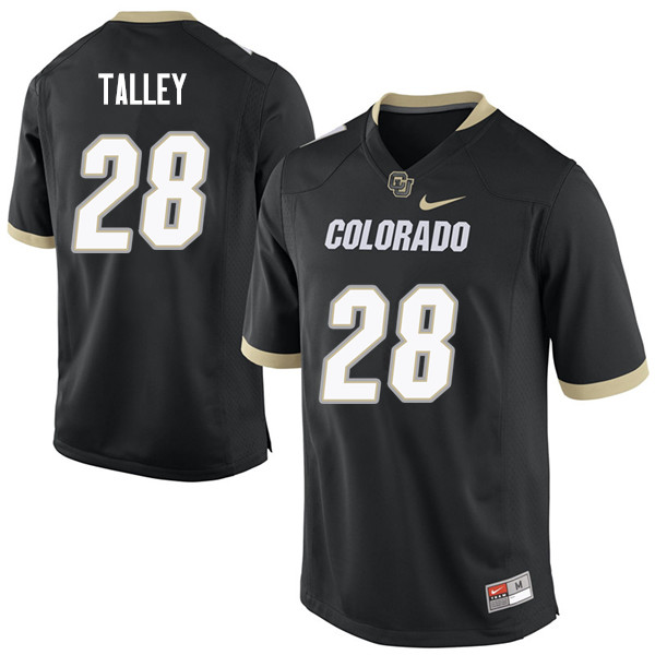 Men #28 Daniel Talley Colorado Buffaloes College Football Jerseys Sale-Black