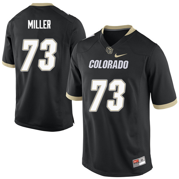Men #73 Isaac Miller Colorado Buffaloes College Football Jerseys Sale-Black