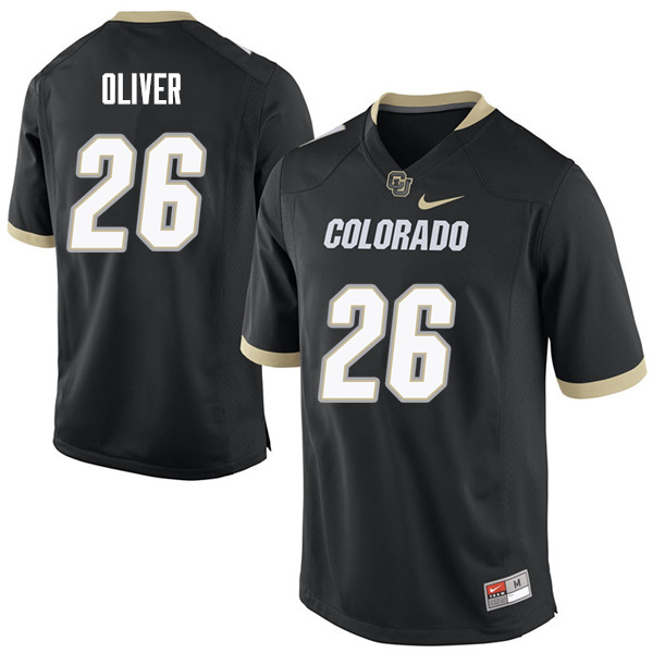 Men #26 Isaiah Oliver Colorado Buffaloes College Football Jerseys Sale-Black