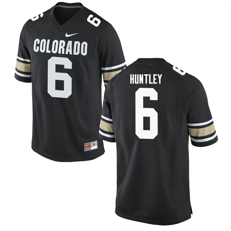 Men #6 Johnny Huntley Colorado Buffaloes College Football Jerseys Sale-Home Black