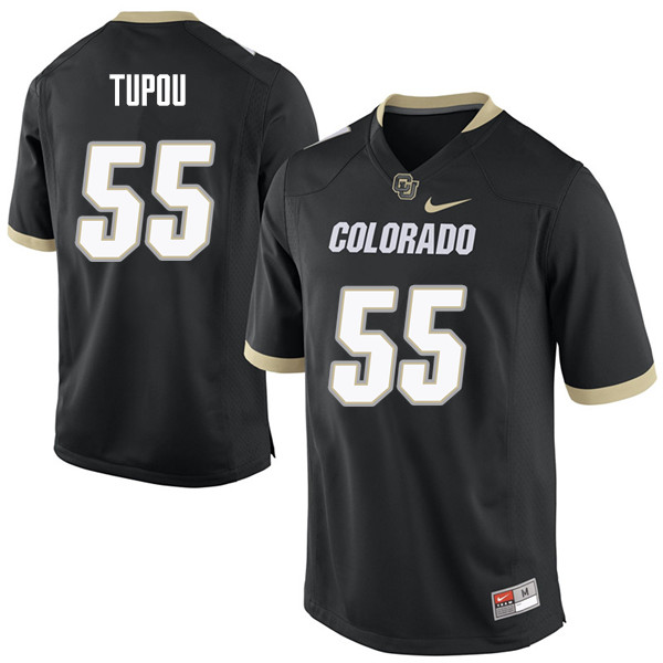 Men #55 Josh Tupou Colorado Buffaloes College Football Jerseys Sale-Black