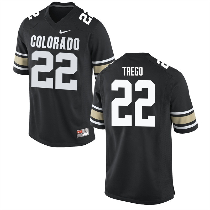 Men #22 Kyle Trego Colorado Buffaloes College Football Jerseys Sale-Home Black