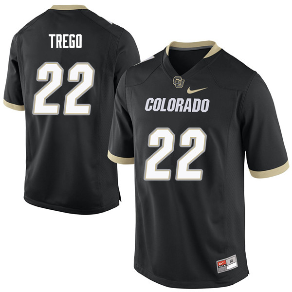 Men #22 Kyle Trego Colorado Buffaloes College Football Jerseys Sale-Black