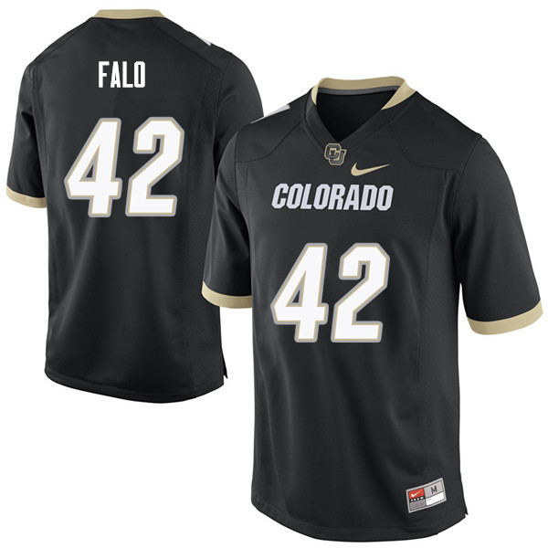 Men #42 N.J. Falo Colorado Buffaloes College Football Jerseys Sale-Black