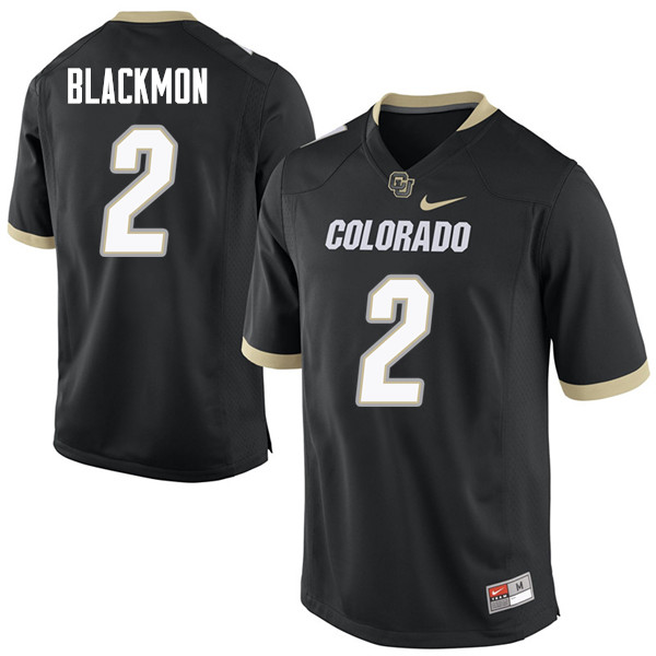 Men #2 Ronnie Blackmon Colorado Buffaloes College Football Jerseys Sale-Black