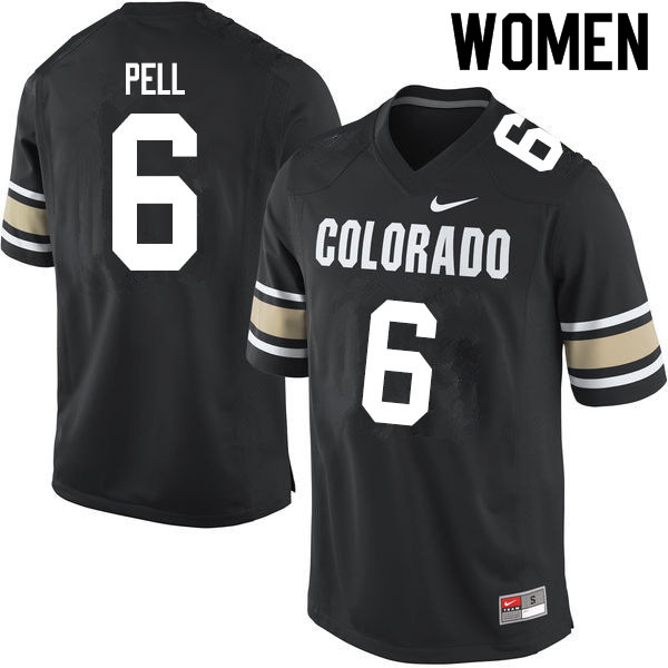 Women #6 Alec Pell Colorado Buffaloes College Football Jerseys Sale-Home Black