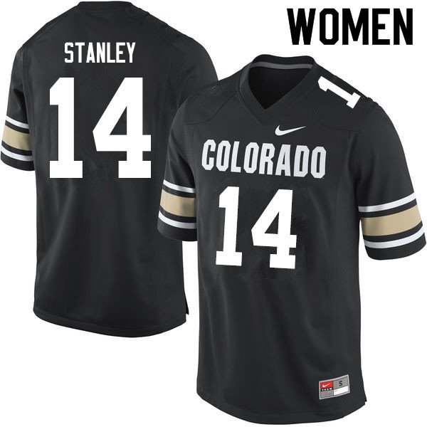 Women #14 Dimitri Stanley Colorado Buffaloes College Football Jerseys Sale-Home Black