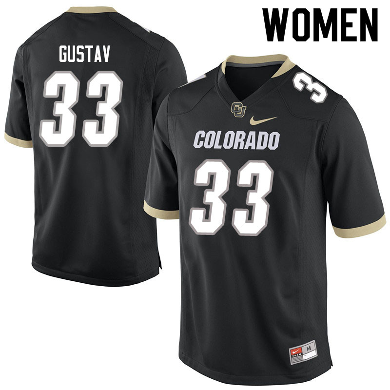 Women #33 Joshka Gustav Colorado Buffaloes College Football Jerseys Sale-Black