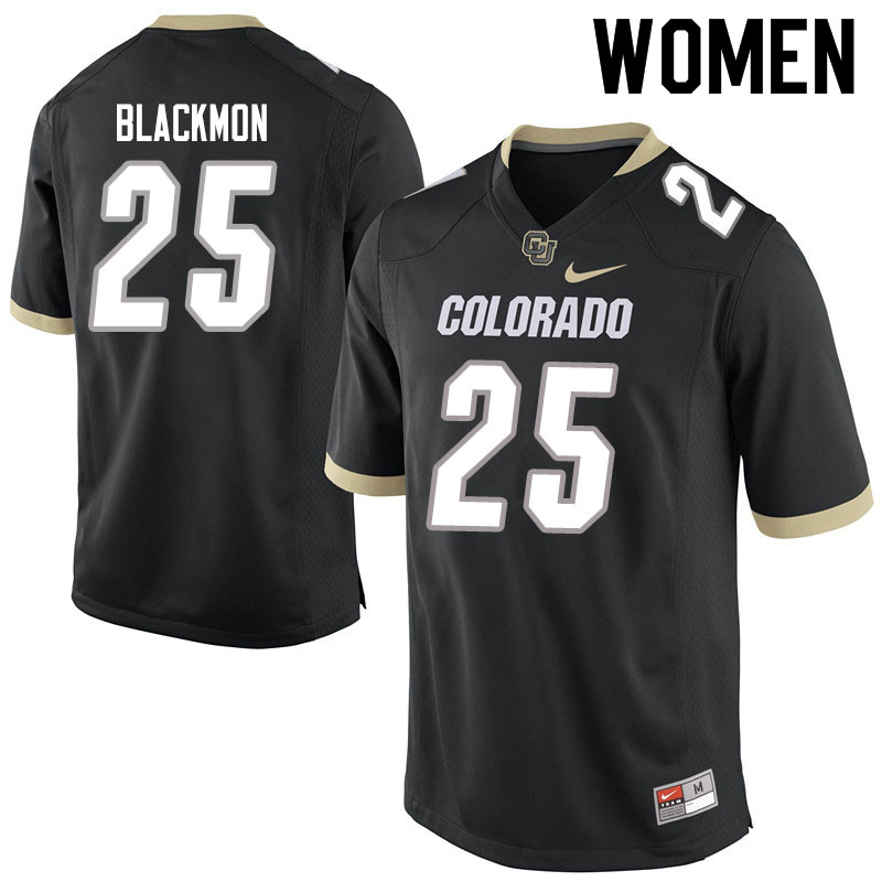 Women #25 Mekhi Blackmon Colorado Buffaloes College Football Jerseys Sale-Black