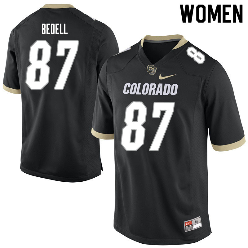 Women #87 Derek Bedell Colorado Buffaloes College Football Jerseys Sale-Black