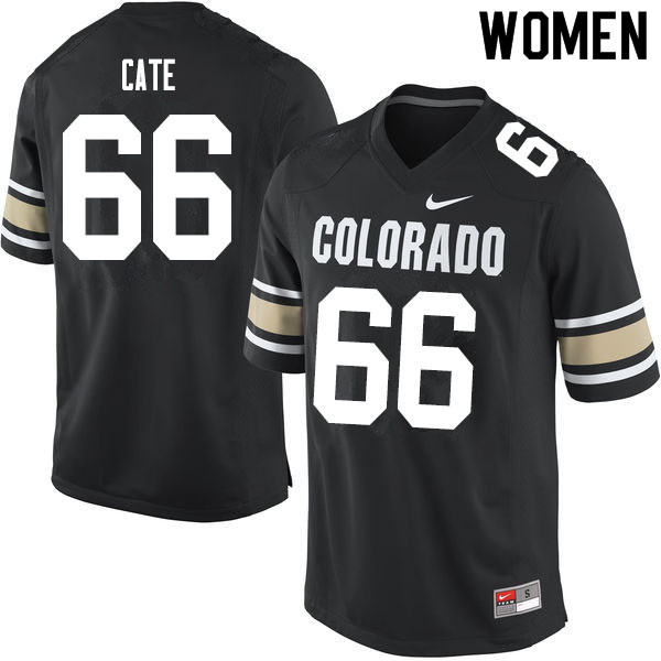 Women #66 Dominick Cate Colorado Buffaloes College Football Jerseys Sale-Home Black