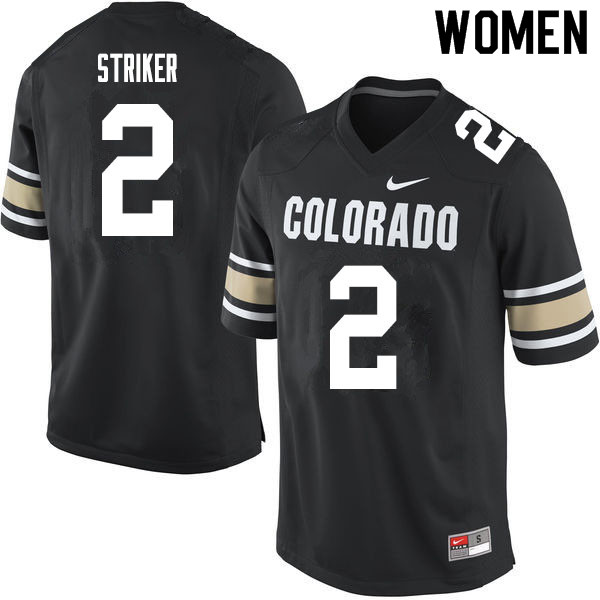 Women #2 Jaylen Striker Colorado Buffaloes College Football Jerseys Sale-Home Black