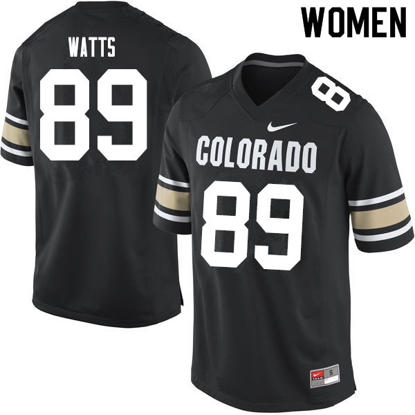 Women #89 Josh Watts Colorado Buffaloes College Football Jerseys Sale-Home Black