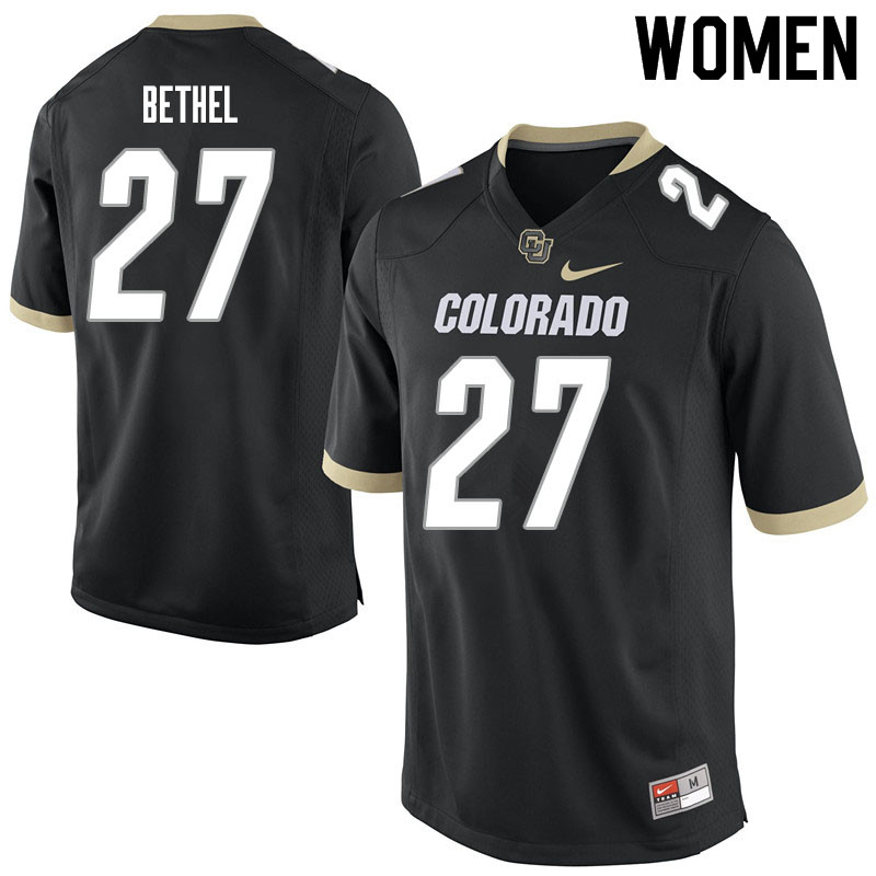 Women #27 Nigel Bethel Colorado Buffaloes College Football Jerseys Sale-Black