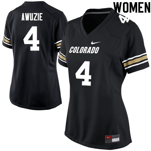 Women #4 Chidobe Awuzie Colorado Buffaloes College Football Jerseys Sale-Black