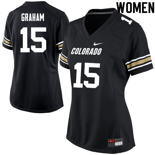 Women #15 Chris Graham Colorado Buffaloes College Football Jerseys Sale-Black