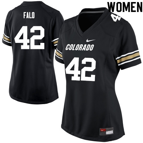 Women #42 N.J. Falo Colorado Buffaloes College Football Jerseys Sale-Black