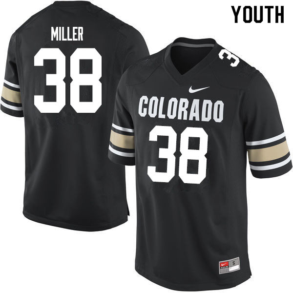 Youth #38 Brock Miller Colorado Buffaloes College Football Jerseys Sale-Home Black