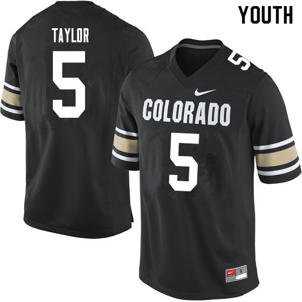 Youth #5 Davion Taylor Colorado Buffaloes College Football Jerseys Sale-Home Black