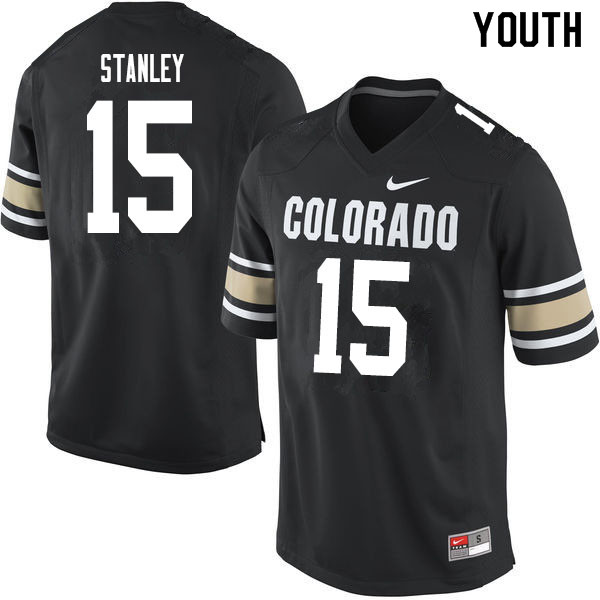 Youth #15 Dimitri Stanley Colorado Buffaloes College Football Jerseys Sale-Home Black