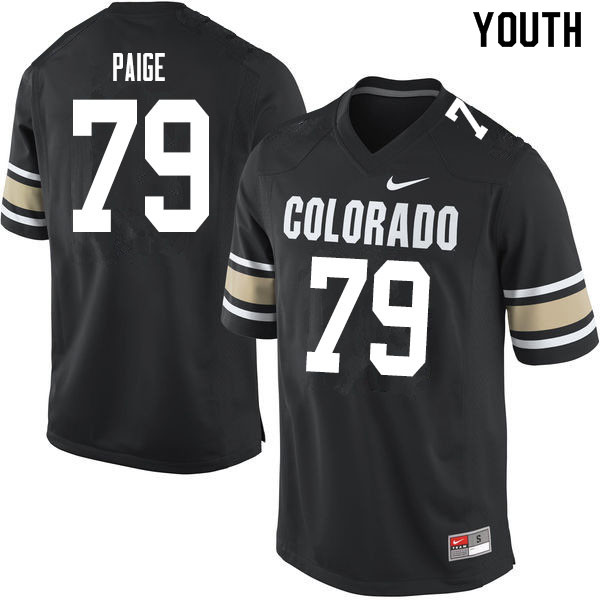 Youth #79 Heston Paige Colorado Buffaloes College Football Jerseys Sale-Home Black