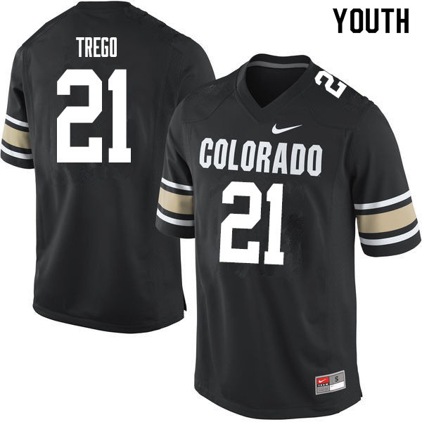 Youth #21 Kyle Trego Colorado Buffaloes College Football Jerseys Sale-Home Black