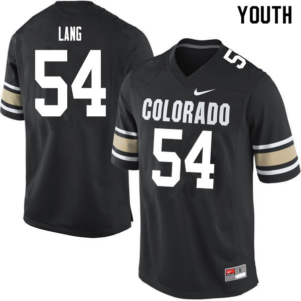 Youth #54 Terrance Lang Colorado Buffaloes College Football Jerseys Sale-Home Black