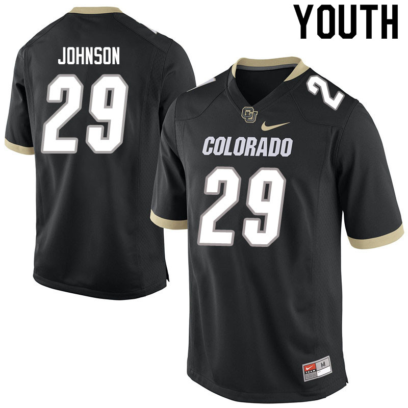 Youth #29 Dustin Johnson Colorado Buffaloes College Football Jerseys Sale-Black