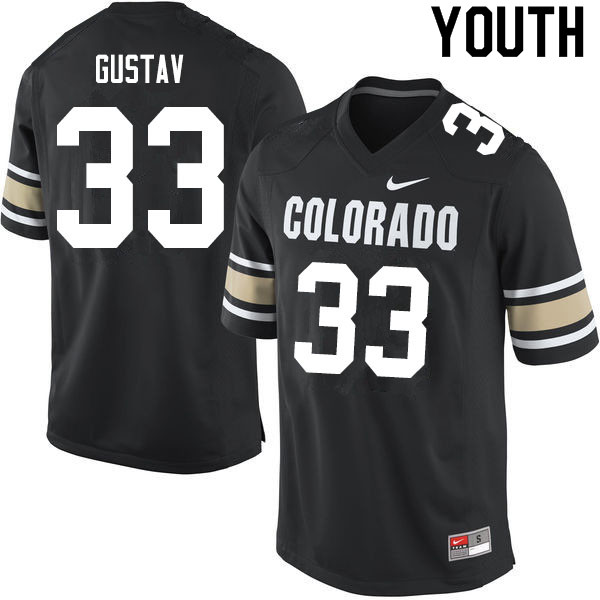 Youth #33 Joshka Gustav Colorado Buffaloes College Football Jerseys Sale-Home Black