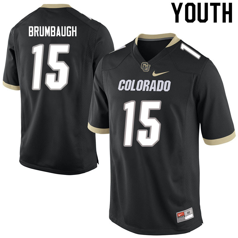 Youth #15 Legend Brumbaugh Colorado Buffaloes College Football Jerseys Sale-Black