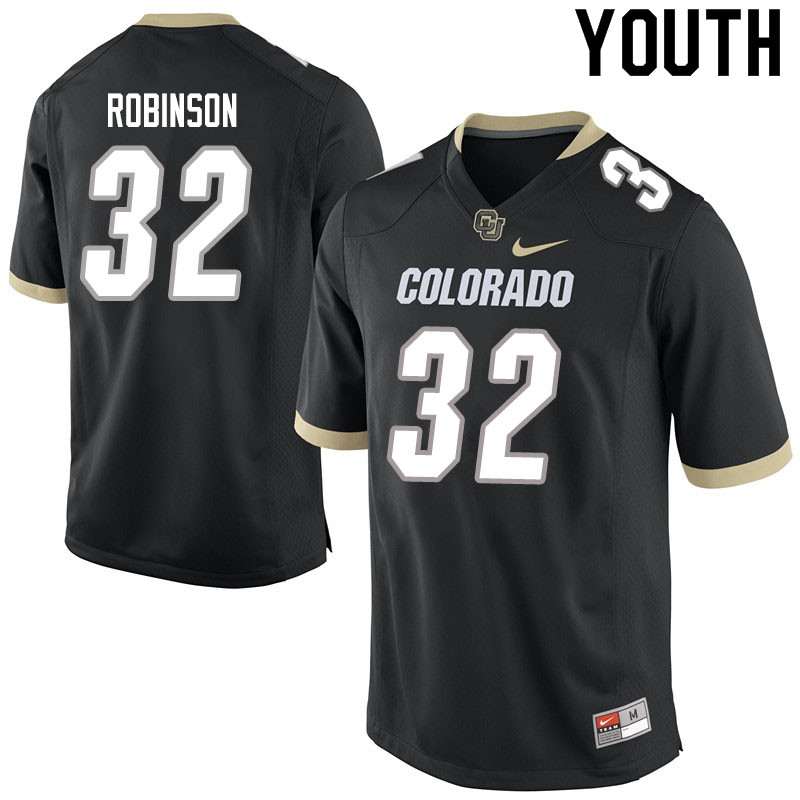 Youth #32 Ray Robinson Colorado Buffaloes College Football Jerseys Sale-Black