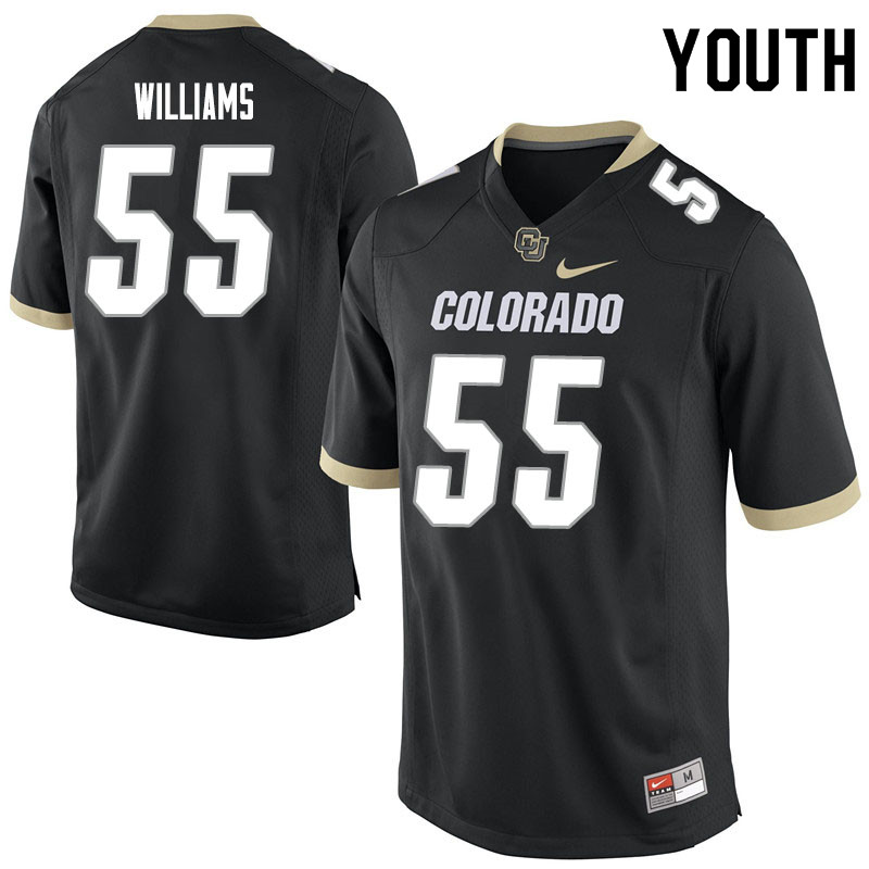 Youth #55 Austin Williams Colorado Buffaloes College Football Jerseys Sale-Black