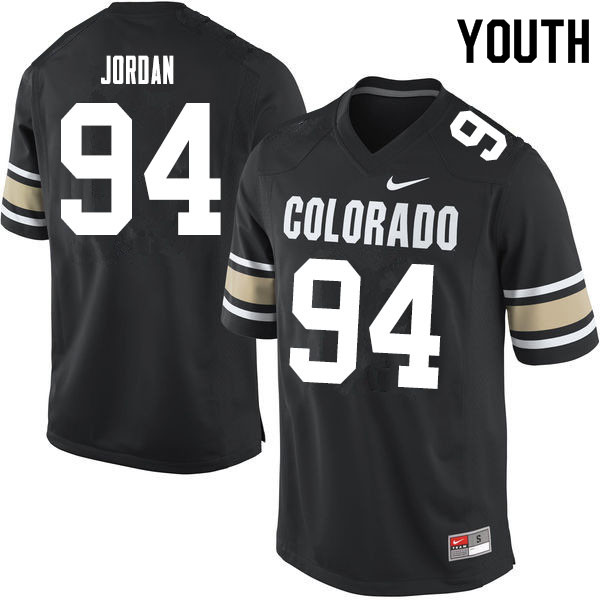 Youth #94 Janaz Jordan Colorado Buffaloes College Football Jerseys Sale-Home Black