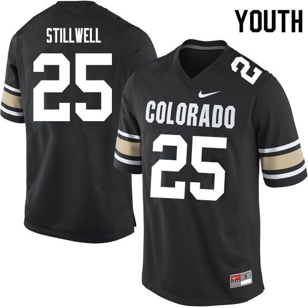 Youth #25 Luke Stillwell Colorado Buffaloes College Football Jerseys Sale-Home Black