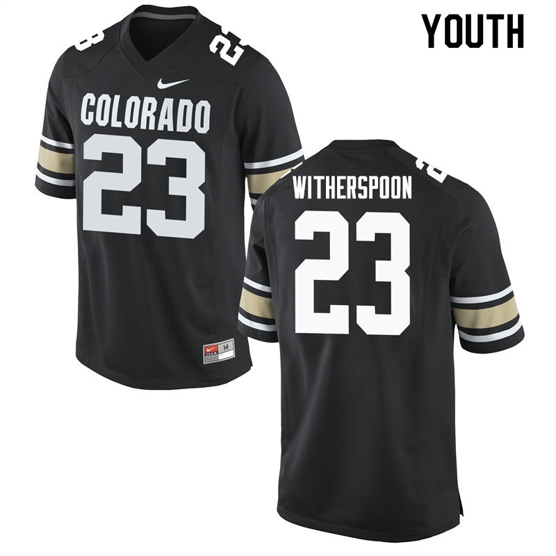 Youth #23 Ahkello Witherspoon Colorado Buffaloes College Football Jerseys Sale-Home Black