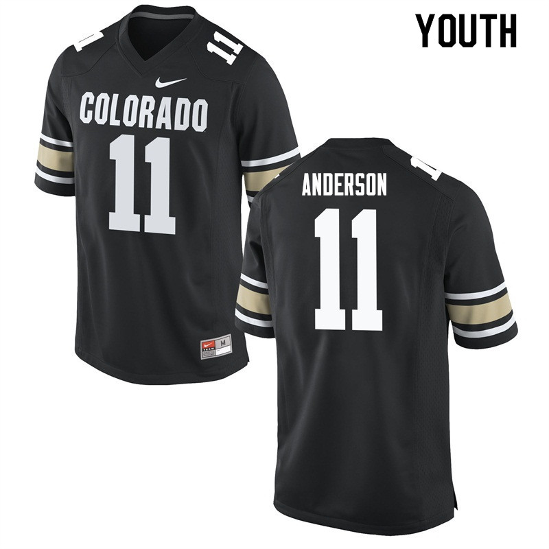 Youth #11 Bobby Anderson Colorado Buffaloes College Football Jerseys Sale-Home Black