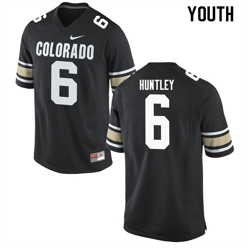Youth #6 Johnny Huntley Colorado Buffaloes College Football Jerseys Sale-Home Black