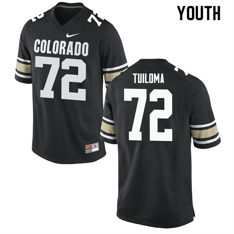 Youth #72 Lyle Tuiloma Colorado Buffaloes College Football Jerseys Sale-Home Black