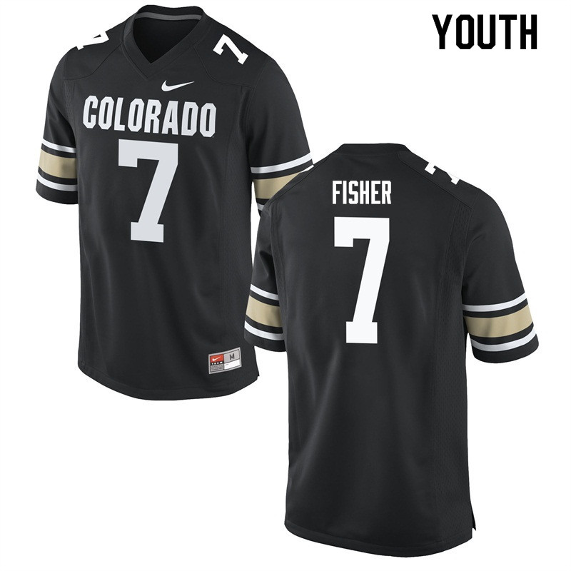 Youth #7 Nick Fisher Colorado Buffaloes College Football Jerseys Sale-Home Black