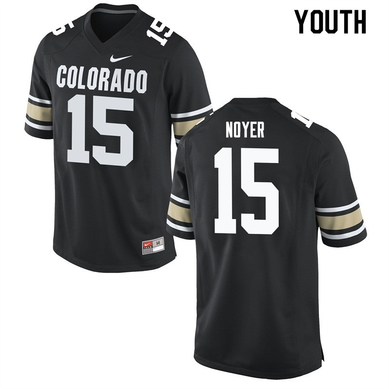 Youth #15 Sam Noyer Colorado Buffaloes College Football Jerseys Sale-Home Black